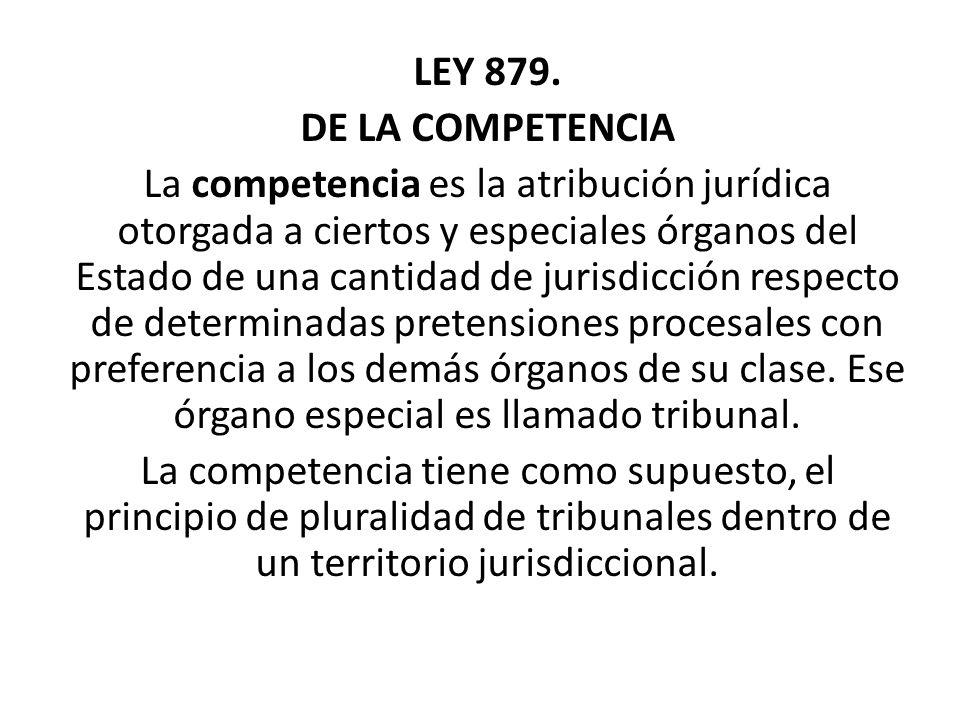 LEY 879. DE LA COMPETENCIA.