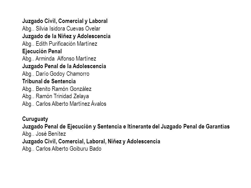 Juzgado Civil, Comercial y Laboral Abg