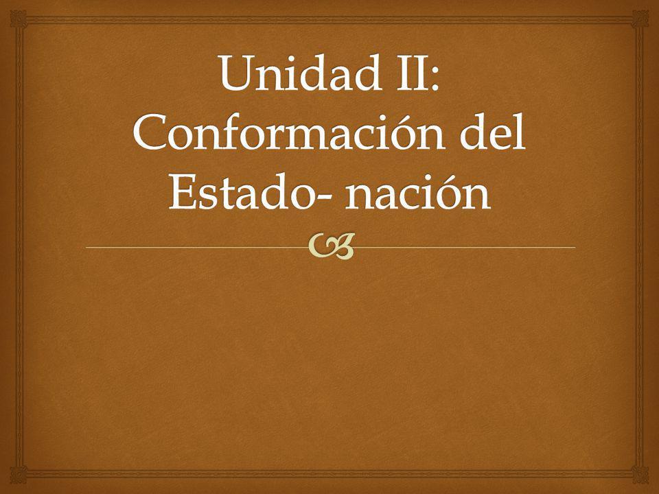 Unidad II: Conformación del Estado- nación