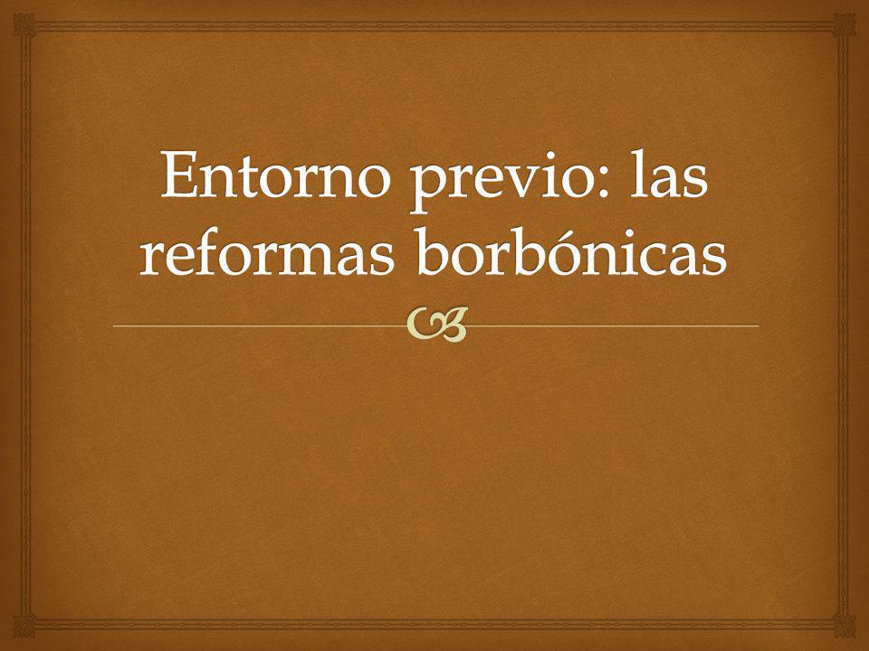 Entorno previo: las reformas borbónicas