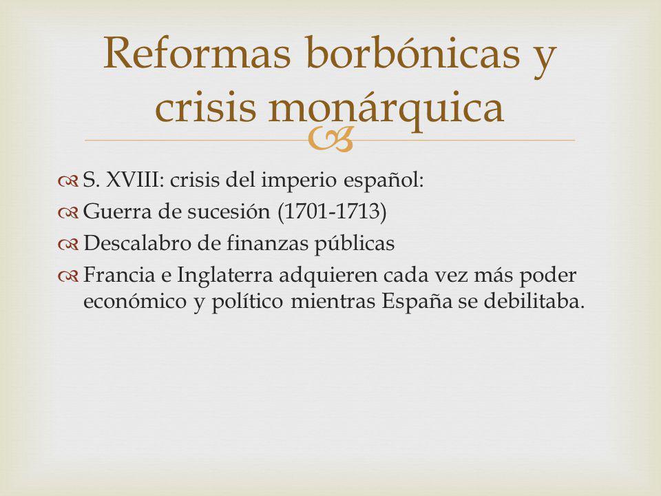 Reformas borbónicas y crisis monárquica