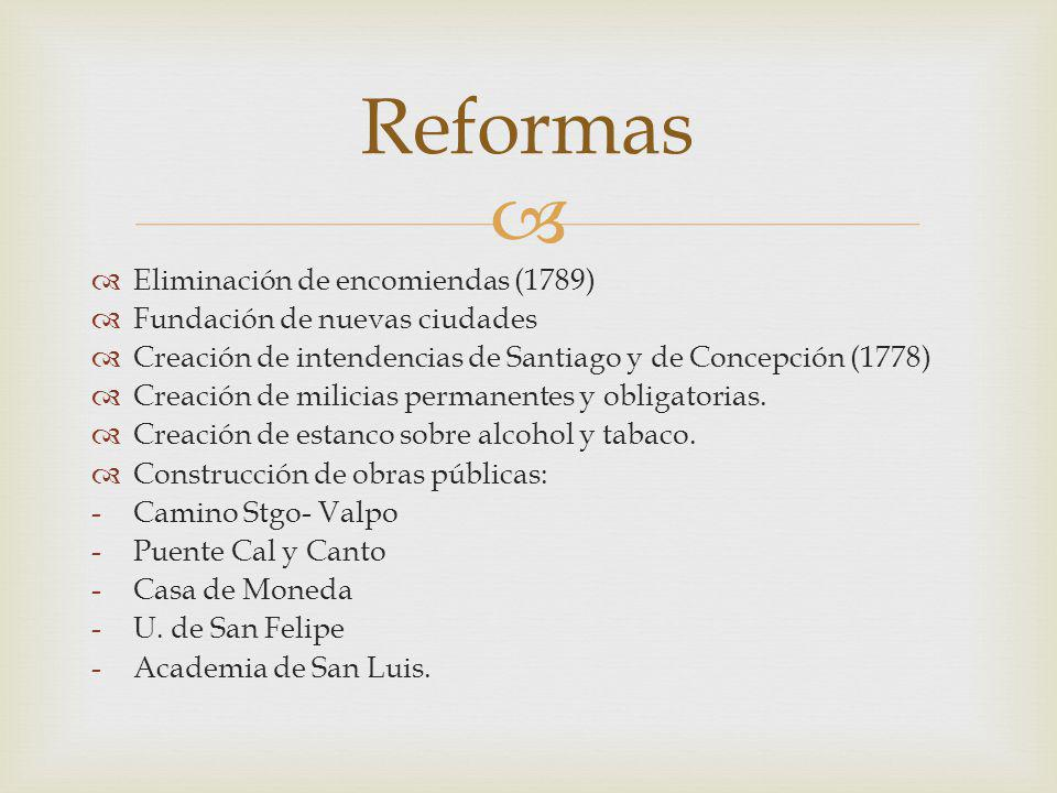 Reformas Eliminación de encomiendas (1789)