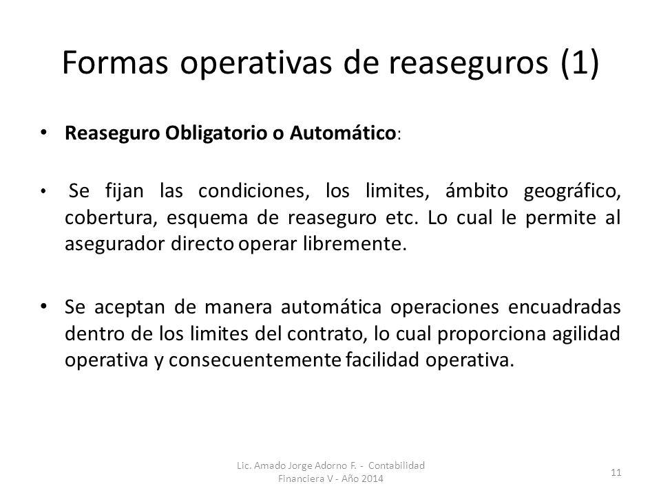 Formas operativas de reaseguros (1)