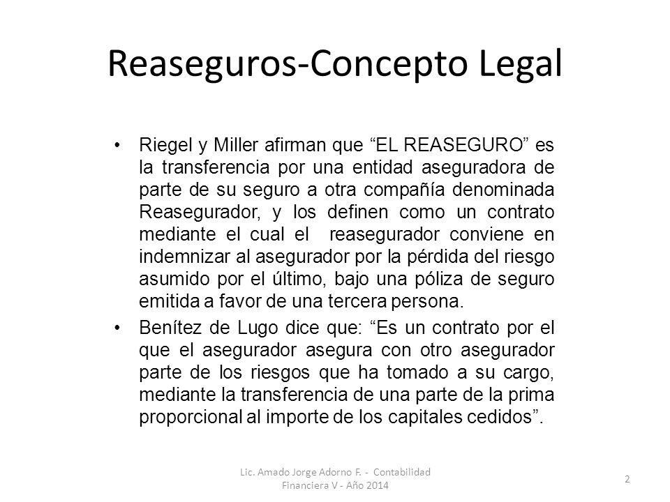 Reaseguros-Concepto Legal
