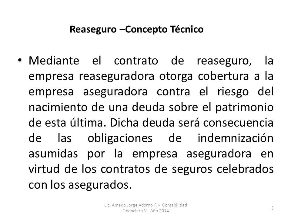 Reaseguro –Concepto Técnico