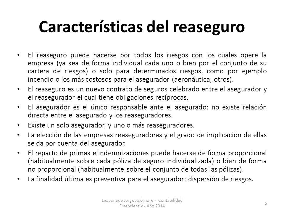 Características del reaseguro