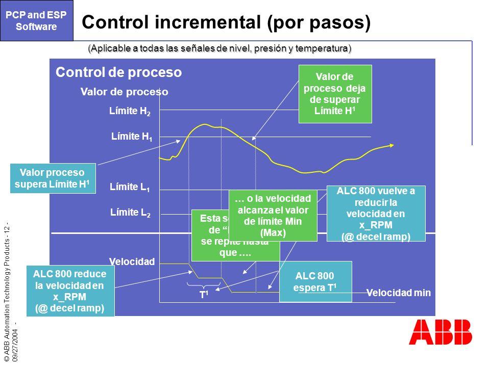 Control incremental (por pasos)