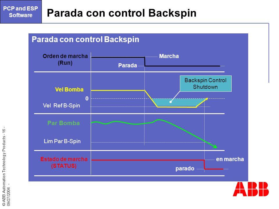 Parada con control Backspin