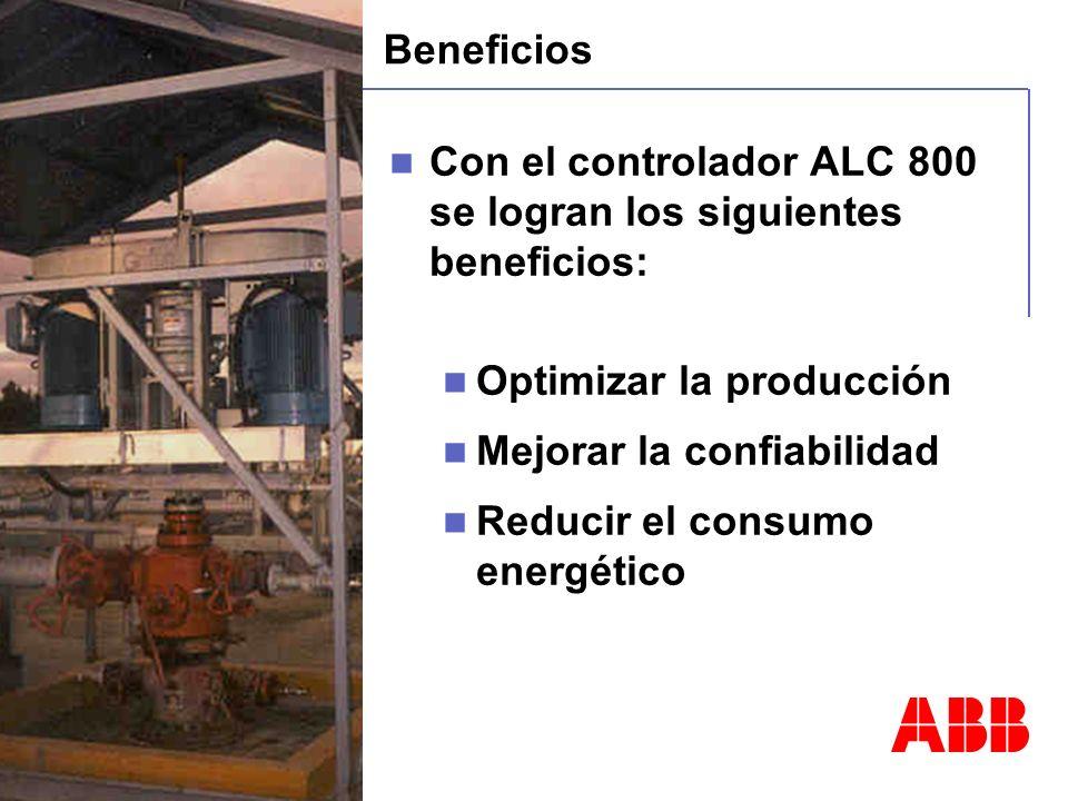 Beneficios Con el controlador ALC 800 se logran los siguientes beneficios: Optimizar la producción.