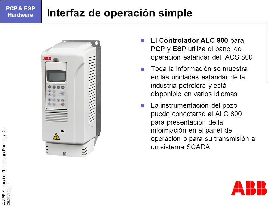 Interfaz de operación simple