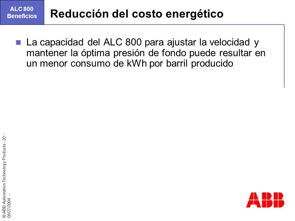 Reducción del costo energético