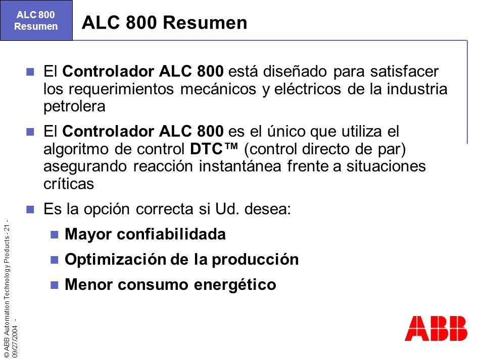ALC 800 Resumen. ALC 800 Resumen.