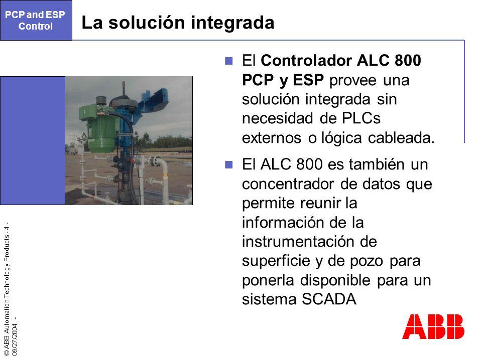 PCP and ESP Control. La solución integrada.