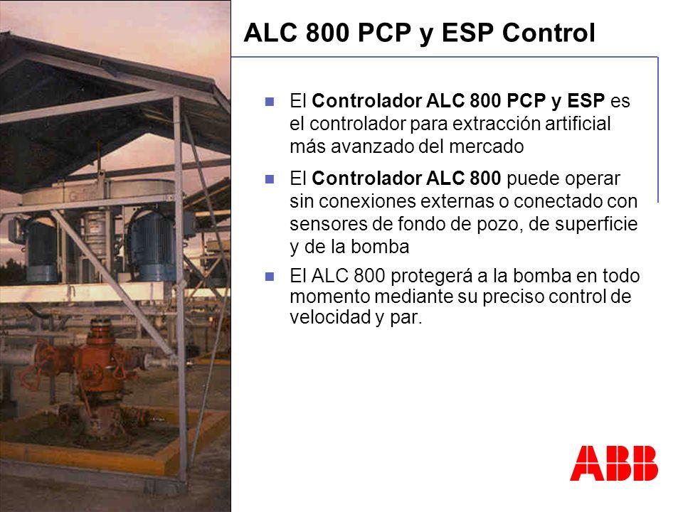 PCP Control. ALC 800 PCP y ESP Control. El Controlador ALC 800 PCP y ESP es el controlador para extracción artificial más avanzado del mercado.