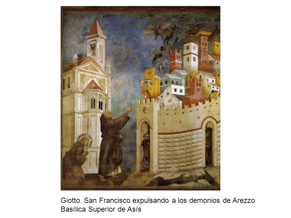 Giotto. San Francisco expulsando a los demonios de Arezzo