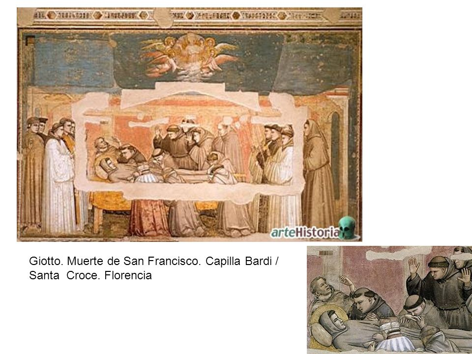 Giotto. Muerte de San Francisco. Capilla Bardi /