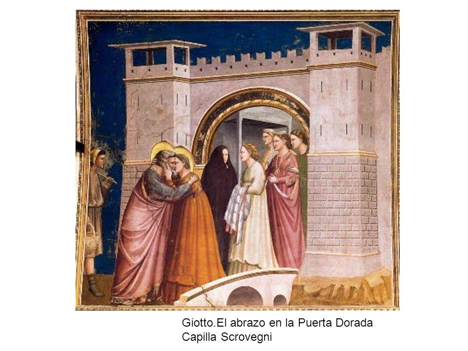 Giotto.El abrazo en la Puerta Dorada