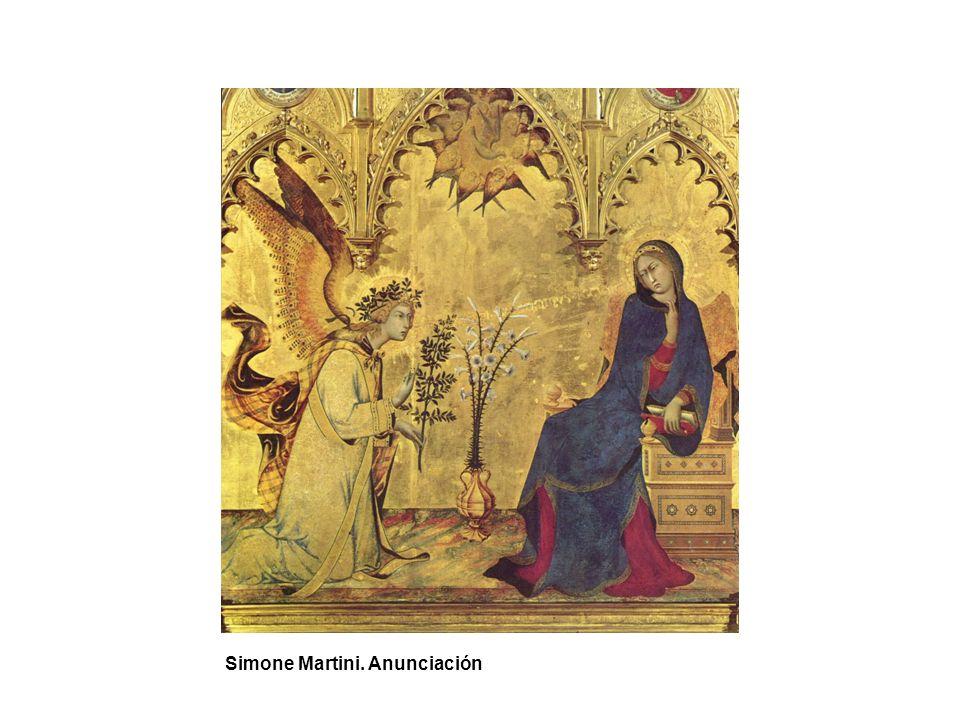 Simone Martini. Anunciación