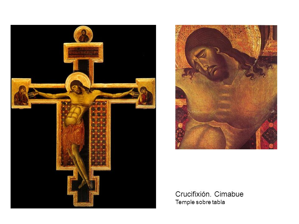 Crucifixión. Cimabue Temple sobre tabla