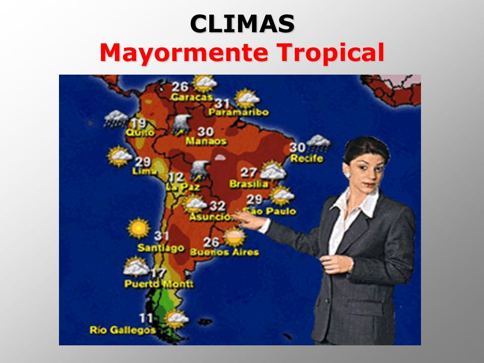 CLIMAS Mayormente Tropical