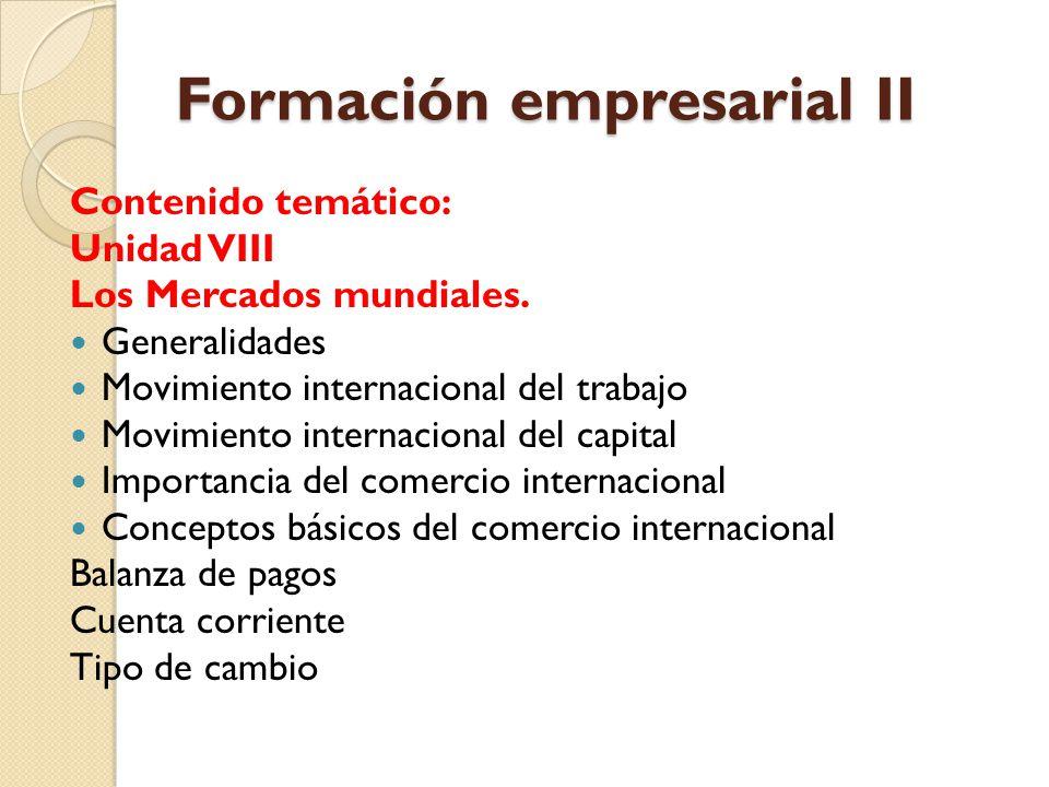 Formación empresarial II