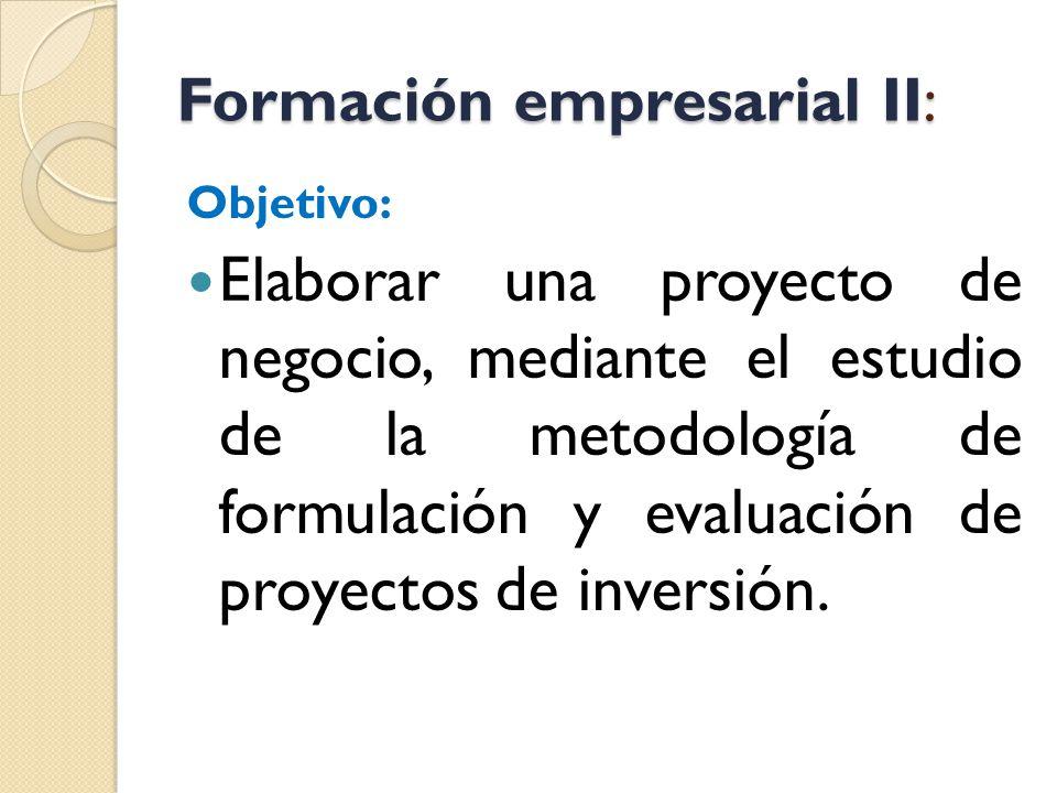 Formación empresarial II: