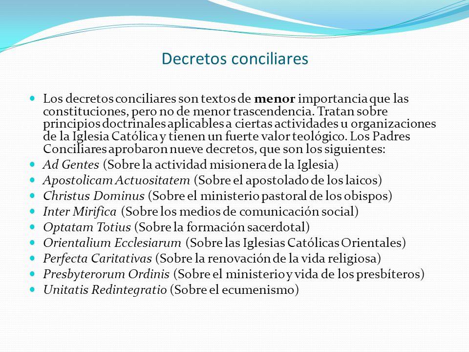 Decretos conciliares