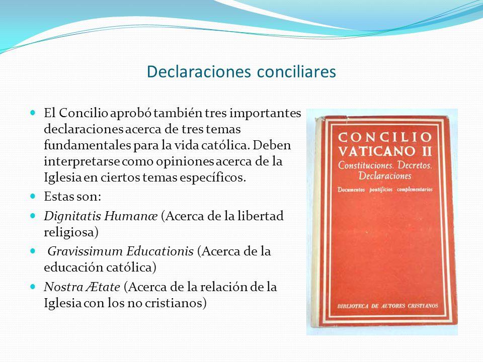 Declaraciones conciliares