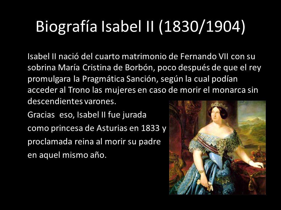 Biografía Isabel II (1830/1904)