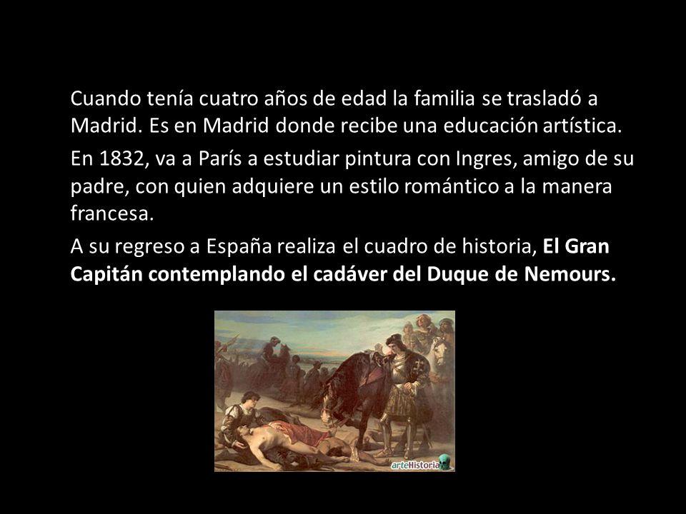 Cuando tenía cuatro años de edad la familia se trasladó a Madrid