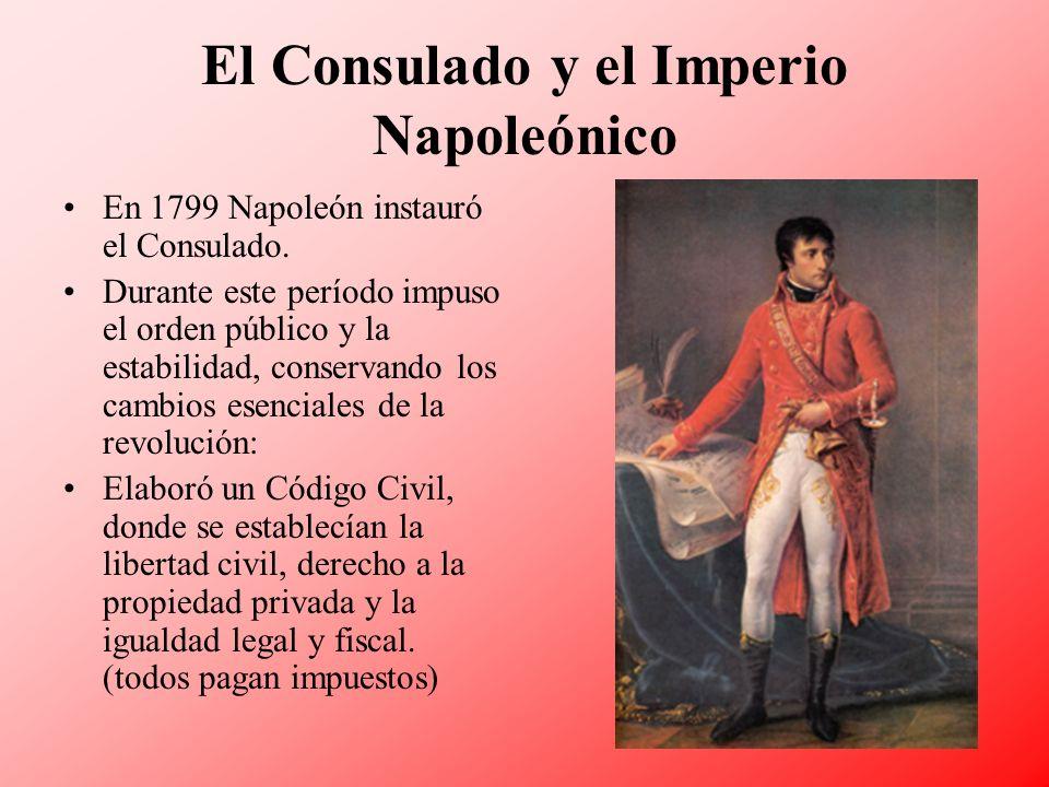 El Consulado y el Imperio Napoleónico