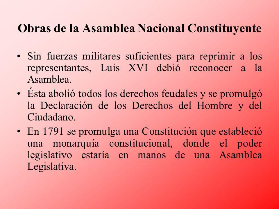 Obras de la Asamblea Nacional Constituyente