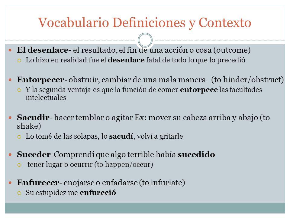 Vocabulario Definiciones y Contexto