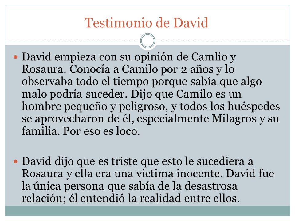 Testimonio de David
