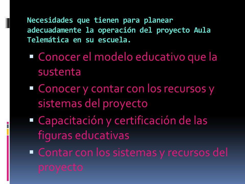 Conocer el modelo educativo que la sustenta