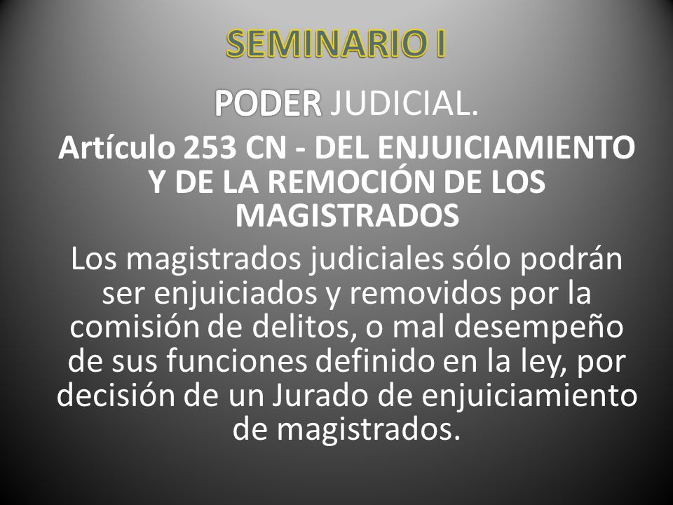 SEMINARIO I PODER JUDICIAL.