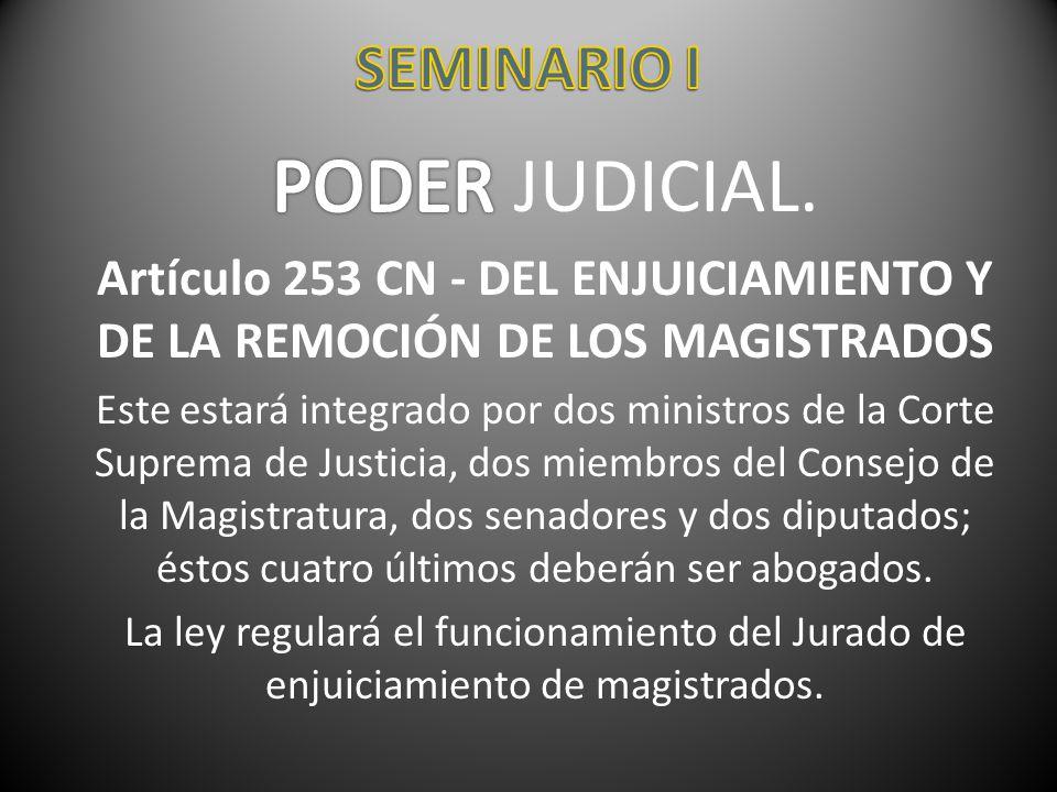 PODER JUDICIAL. SEMINARIO I