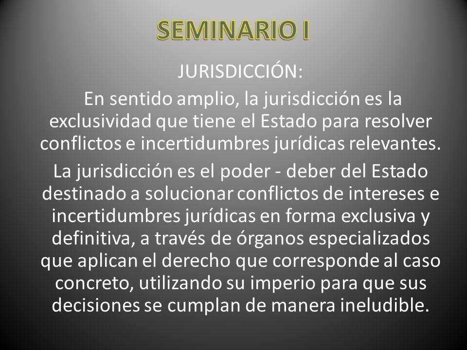 SEMINARIO I JURISDICCIÓN: