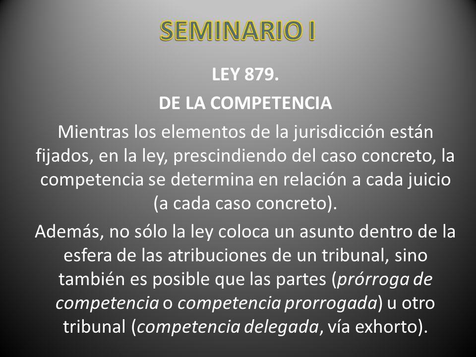 SEMINARIO I LEY 879. DE LA COMPETENCIA