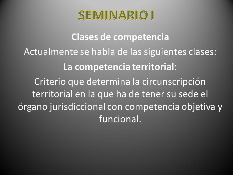 SEMINARIO I Clases de competencia