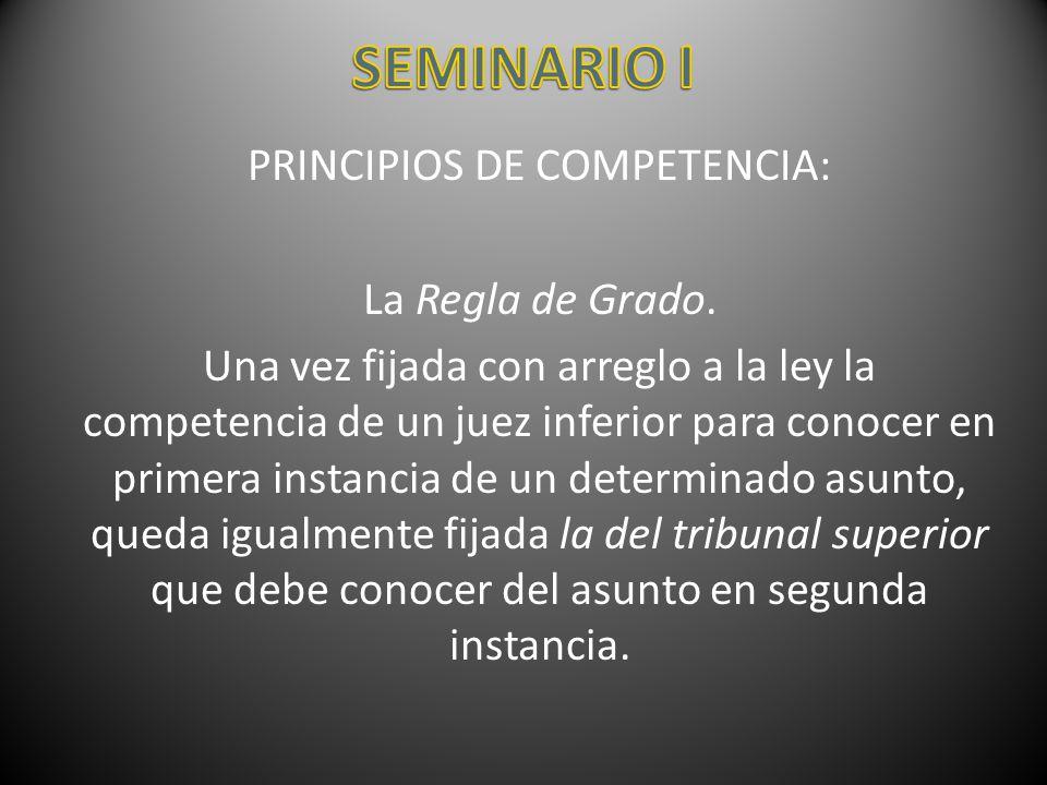 PRINCIPIOS DE COMPETENCIA: