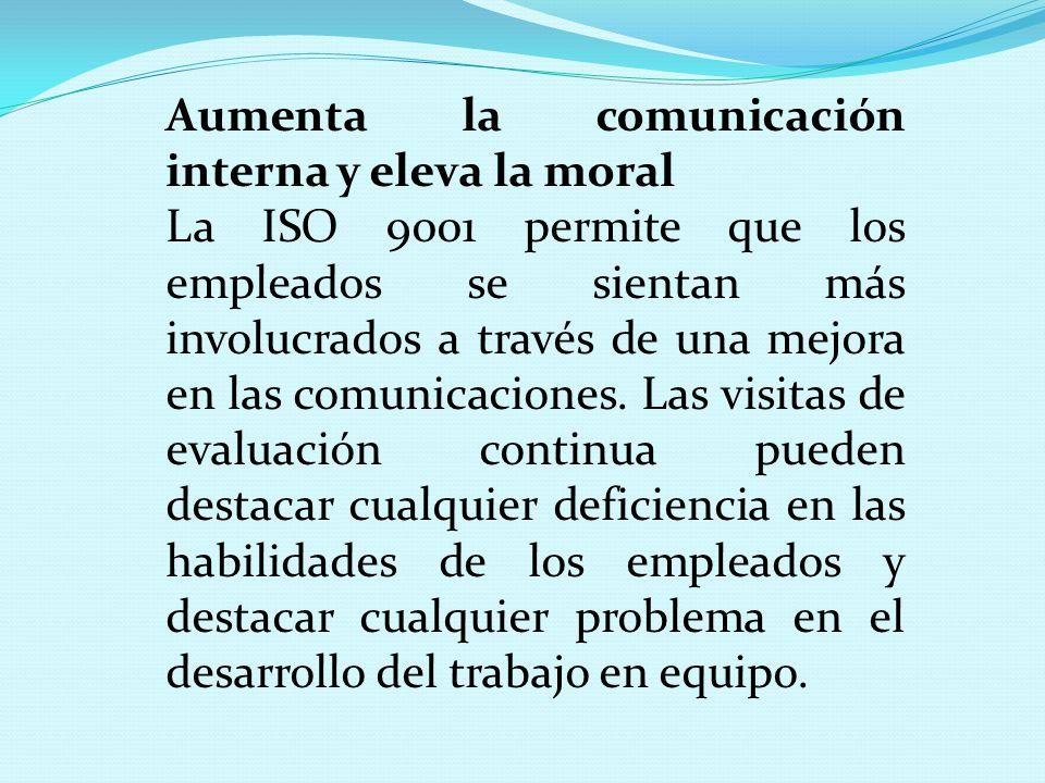 Aumenta la comunicación interna y eleva la moral