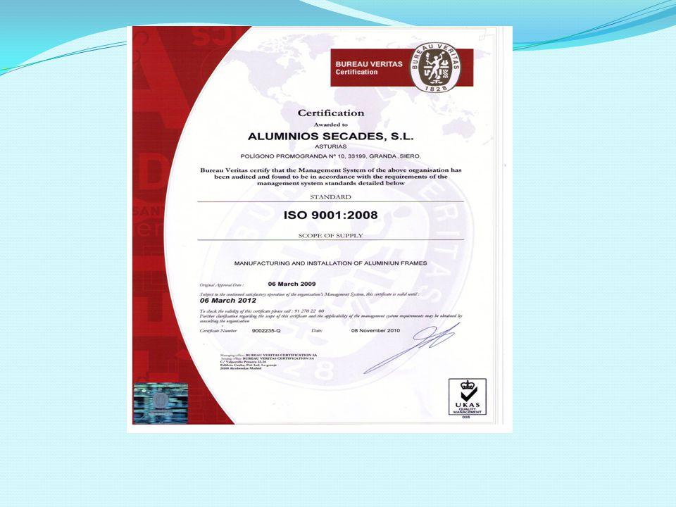 Certificado ISO 9001/2008