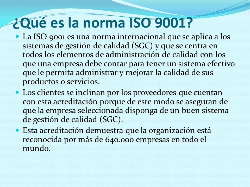 ¿Qué es la norma ISO 9001