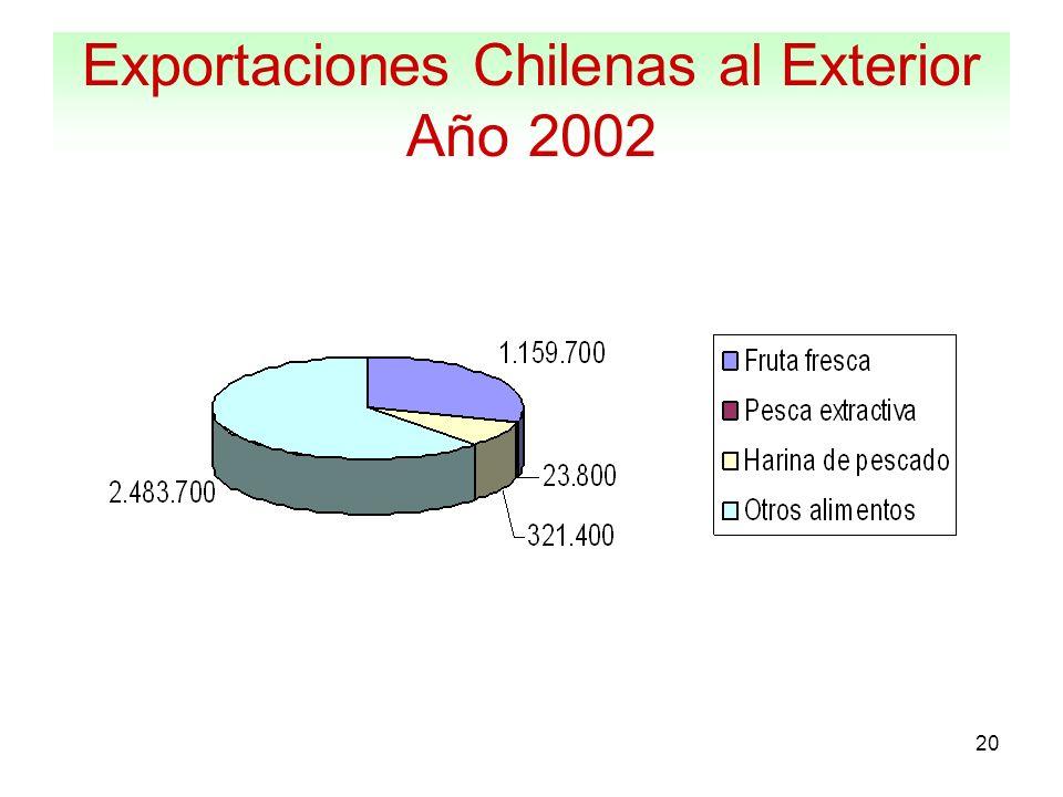 Exportaciones Chilenas al Exterior Año 2002