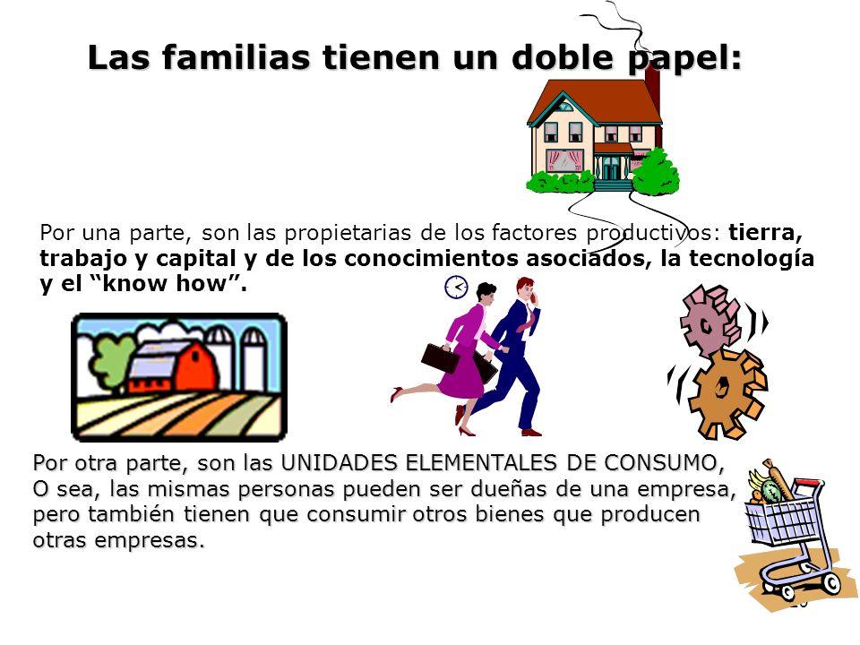 Las familias tienen un doble papel: