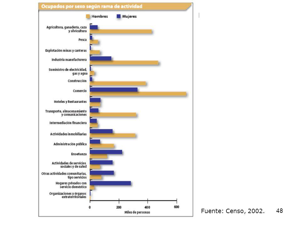 Fuente: Censo, 2002.