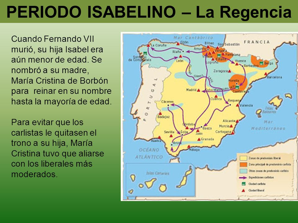 PERIODO ISABELINO – La Regencia