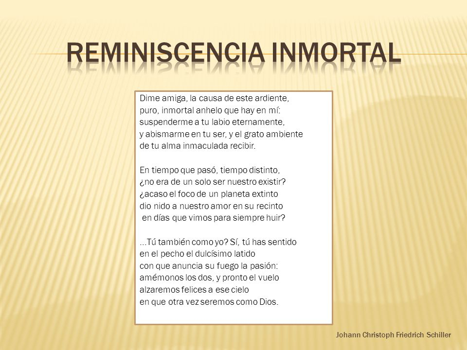 Reminiscencia inmortal