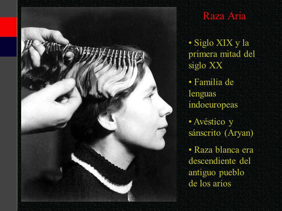 Raza Aria Siglo XIX y la primera mitad del siglo XX